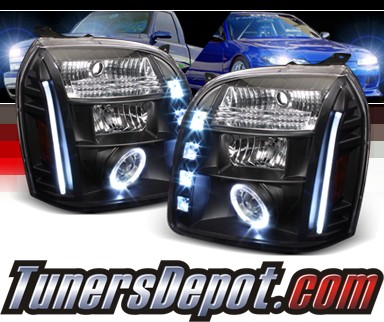 Sonar® LED CCFL Halo Projector Headlights (Black) - 07-12 GMC Yukon (Incl. XL/Denali/Hybrid)