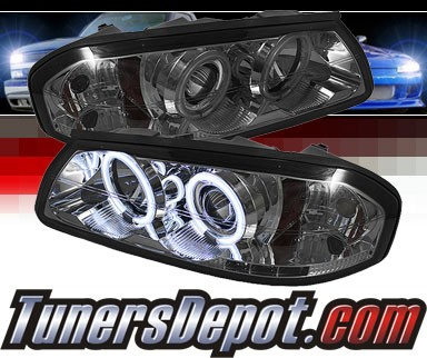 Sonar® LED CCFL Halo Projector Headlights (Smoke) - 00-05 Chevy Impala