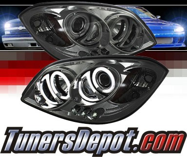 Sonar® LED CCFL Halo Projector Headlights (Smoke) - 07-09 Pontiac G5