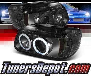 Sonar® LED CCFL Halo Projector Headlights (Smoke) - 95-01 Ford Explorer