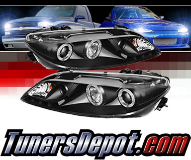 Sonar 174 Led Halo Projector Headlights Black 03 06 Mazda 6