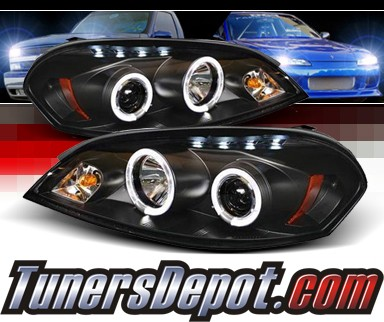 Sonar® LED Halo Projector Headlights (Black) - 06-07 Chevy Monte Carlo