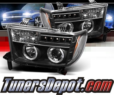 Sonar® LED Halo Projector Headlights (Black) - 07-11 Toyota Tundra