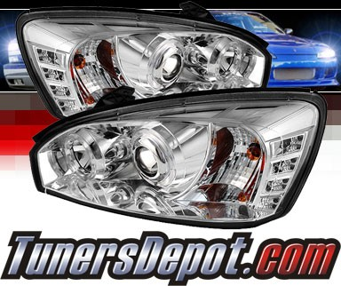 Sonar® LED Halo Projector Headlights (Chrome) - 04-07 Chevy Malibu
