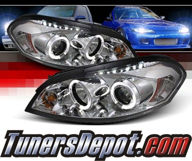 Sonar® LED Halo Projector Headlights (Chrome) - 06-07 Chevy Monte Carlo