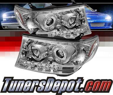 Sonar® LED Halo Projector Headlights (Chrome) - 08-11 Toyota Land Cruiser