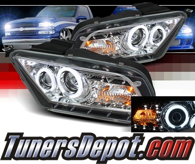 Sonar® LED Halo Projector Headlights (Chrome) - 10-12 Ford Mustang (w/o Stock HID)