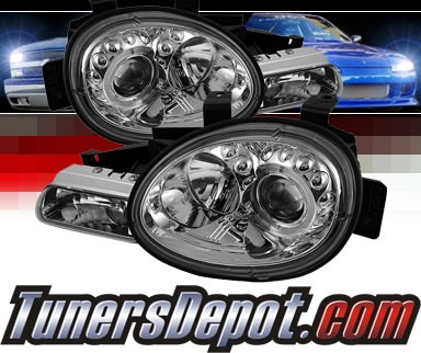 Sonar® LED Halo Projector Headlights (Chrome) - 95-99 Dodge Neon
