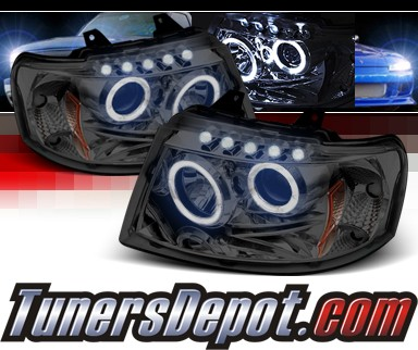 Sonar® LED Halo Projector Headlights (Smoke) - 03-06 Ford Expedition