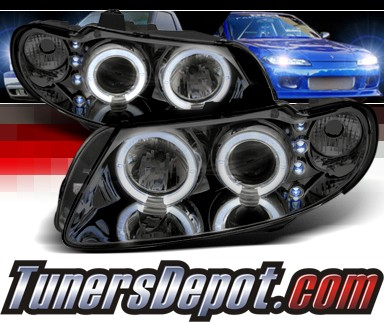 Sonar® LED Halo Projector Headlights (Smoke) - 04-06 Pontiac GTO