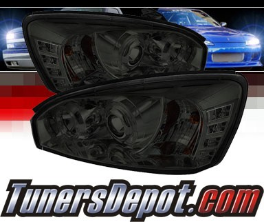 Sonar® LED Halo Projector Headlights (Smoke) - 04-07 Chevy Malibu