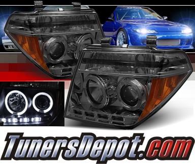 Sonar Led Halo Projector Headlights Smoke 05 07 Nissan Pathfinder Pro Yd Nf05 Hl Sm
