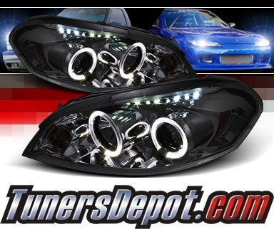 Sonar® LED Halo Projector Headlights (Smoke) - 06-07 Chevy Monte Carlo
