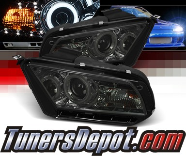 Sonar® LED Halo Projector Headlights (Smoke) - 10-12 Ford Mustang (w/o Stock HID)