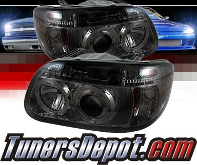 Sonar® LED Halo Projector Headlights (Smoke) - 95-01 Ford Explorer
