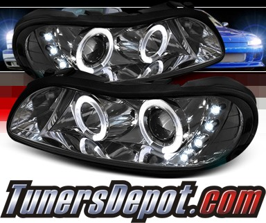 Sonar® LED Halo Projector Headlights (Smoke) - 97-03 Chevy Malibu