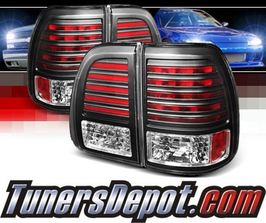 Sonar® LED Tail Lights (Black) - 03-07 Lexus LX470