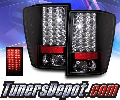sonar led tail lights black 05 06 jeep grand cherokee. Black Bedroom Furniture Sets. Home Design Ideas