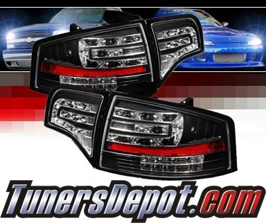 Sonar® LED Tail Lights (Black) - 06-08 Audi A4 4dr (Gen 2)