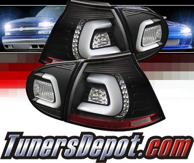 Sonar® LED Tail Lights (Black) - 06-09 VW Volkswagen Golf