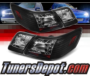 Sonar® LED Tail Lights (Black) - 07-09 Toyota Camry