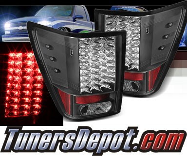 Sonar® LED Tail Lights (Black) - 07-10 Jeep Grand Cherokee