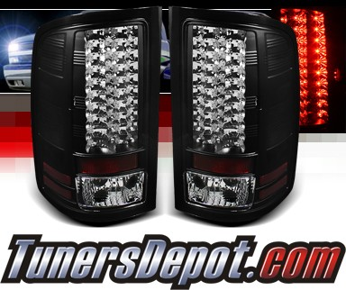 Sonar® LED Tail Lights (Black) - 07-13 GMC Sierra