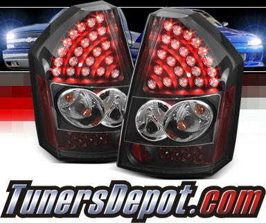 Sonar® LED Tail Lights (Black) - 08-10 Chrysler 300C
