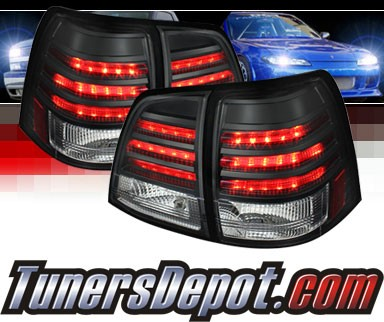 Sonar® LED Tail Lights (Black) - 08-11 Toyota Land Cruiser