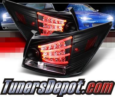 Sonar Led Tail Lights Black 08 12 Honda Accord 4dr Alt Yd Ha08 4d Bk