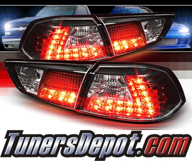 Sonar® LED Tail Lights (Black) - 08-13 Mitsubishi Lancer Evolution EVO X (Exc. Wagon)
