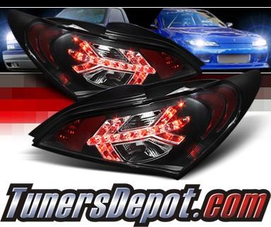 Sonar Led Tail Lights Black 10 12 Hyundai Genesis 2dr Alt Yd Hygen09 Bk