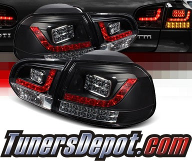 Sonar® LED Tail Lights (Black) - 10-12 VW Volkswagen Golf