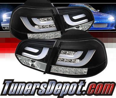 Sonar® LED Tail Lights (Black) - 10-12 VW Volkswagen Golf (Incl. GTI) (Gen 2)
