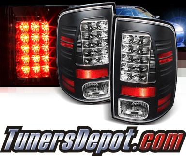 Sonar® LED Tail Lights (Black) - 10-16 Ram Pickup 2500/3500