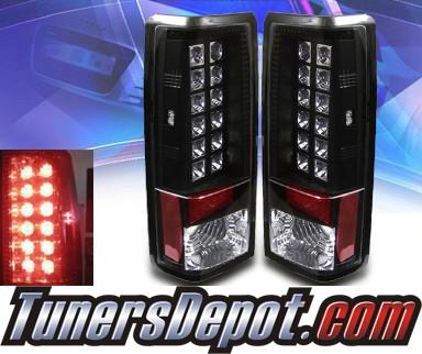 Sonar 174 Led Tail Lights Black 85 05 Chevy Astro Van Alt