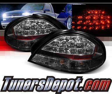 Sonar Led Tail Lights Black 99 05 Pontiac Grand Am Alt Yd Pgam99 Bk