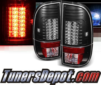 Sonar® LED Tail Lights (Black) - 99-07 Ford F-450 F450 (Gen 2)