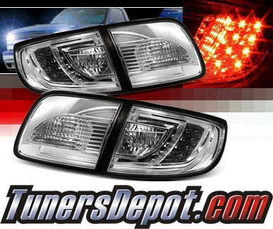 Sonar® LED Tail Lights (Chrome) - 03-08 Mazda 3 4dr