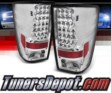Sonar® LED Tail Lights (Chrome) - 04-12 Nissan Titan