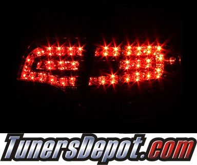 Sonar® LED Tail Lights (Chrome) - 06-08 Audi A4 4dr (Gen 2)