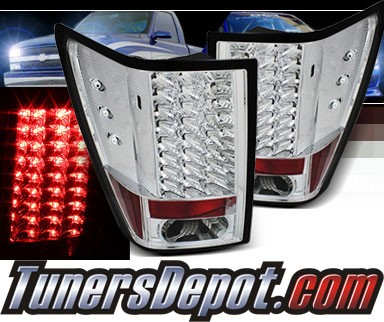 Sonar® LED Tail Lights (Chrome) - 07-10 Jeep Grand Cherokee