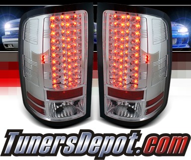 Sonar® LED Tail Lights (Chrome) - 07-12 GMC Sierra (Exc. Denali)