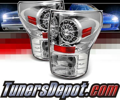 Sonar® LED Tail Lights (Chrome) - 07-12 Toyota Tundra