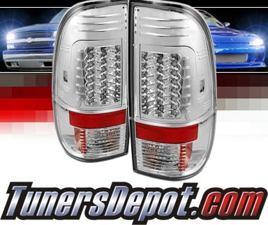 Sonar® LED Tail Lights (Chrome) - 08-13 Ford F-250 F250 (Gen 2)