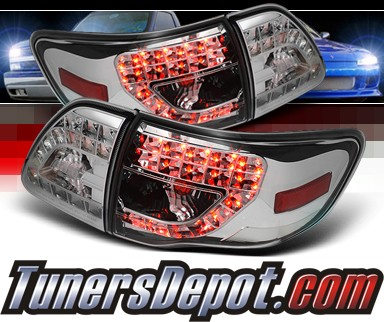 Sonar® LED Tail Lights (Chrome) - 09-10 Toyota Corolla