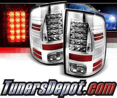 Sonar® LED Tail Lights (Chrome) - 10-16 Ram Pickup 2500/3500