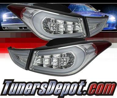 Sonar® LED Tail Lights (Chrome) - 11-13 Hyundai Elantra