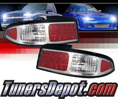 Sonar® LED Tail Lights (Chrome) - 95-98 Nissan 240SX