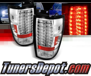 Sonar® LED Tail Lights (Chrome) - 97-02 Ford Expedition (Gen 2)